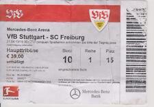 Ticket    VfB Stuttgart  - SC Freiburg     1. Bundesliga 2012/13