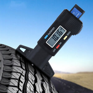 Car Tire Pattern Texture Depth Electronic Ruler Tyre Tread Gauge Measuring Tool