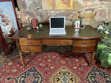 'GRANGE' Franch Louis Office Writing Desk~Drawers & Filing~Leather Insert~Clerks