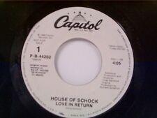 "HOUSE OF SCHOCK ""LOVE IN RETURN / SAME"" 45 MINT PROMO"