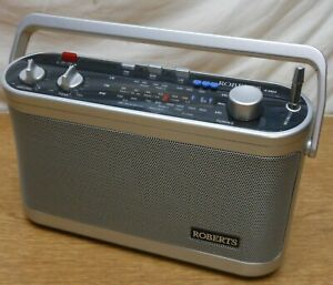 ROBERTS Silver R9954 New Classic 954 Portable FM/MW/LW Radio Tested & Working