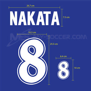NAKATA #8 Japan Home World Cup 1998 PU PRINT EXCELLENT QUALITY