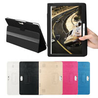 Universal Folio Leather Stand Case Cover For 10 10.1 Inch Android Tablet PC