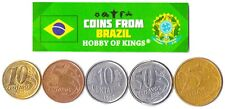 5 Brazilian Coins Different Latin America Collectible Coins Foreign Currency
