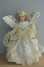 "Beautiful Porcelain Angel Doll w. 2004 Banner - 16"" w. Stand"