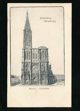 France STRASSBURG Strasbourg Munster Cathedral c1902 u/b PPC