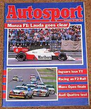 Autosport 13/9/84* MANTA 400 POSTER - SYDNEY MEEKE - ITALIAN GP - RALT RH6 TEST