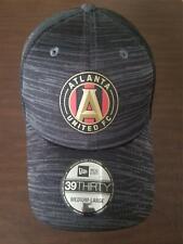 New Era Cap Atlanta United FC 39Thirty medium-large black hat w/ mesh NEW