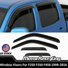For 1999-2016 F250 F350 F450 Crew Cab Shade Deflectors Vent Window Sun Visors