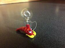 Shrimp-Aquarium Floating Blown Glass Bubble Micro SHRIMP W/ Clear Round Floater