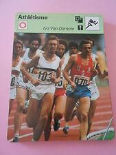 Athlétisme Ivo Van Damme né à Louvain Fiche Card 1977