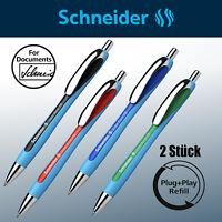 Schneider Slider Rave XB schwarz rot blau grün Stift  Kugelschreiber *2 Stück