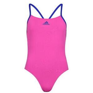 Ladies ADIDAS Infinitex+ Open Back Performance Swimsuit -Thin Straps Costume New