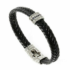 Rebecca MyWorld Leather Bracelet With Clover Bead Br14