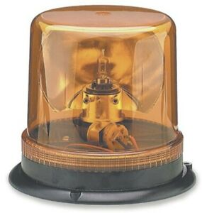 AMBER Rotating Safety Beacon ~ 100 Flashes per min. 12V ~ Grote 76463