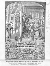 Maximilien d'Autriche épée de Chevalier Gravure des Chroniques 1878 ILLUSTRATION