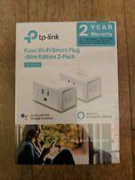 TP Link Kasa Wi Fi Smart Plug Slim Edition 2 Pack Google Alexa New Unopened