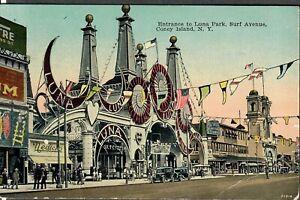 Coney Island Postcard Entrance To Luna Park, Surf Avenue