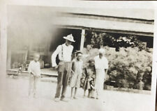 "African American Photo ""Aunt Maggie"" Washer Woman&Family At Cabin Camp Gordon Ga"