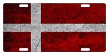 DENMARK Flag Custom License Plate  Emblem DIRTY Version