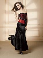 New Black Ladies Fishtail Corset Mermaid Punk Gothic Steampunk Long Skirt UK6-16