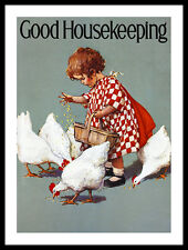 Jessie willcox smith Good Housekeeping poster image Art pression et cadre 40x30cm