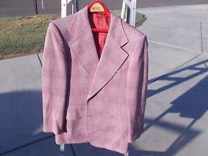 VINTAGE 1970s Sears Roebuck Co  ROCKABILLY SUIT Jacket COAT 2 BUTTON  Sz 44. #a