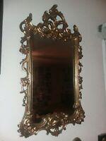 Vintage Syroco Mid 20th Century Hollywood Regency Gold Ornate Wall Mirror