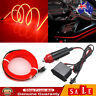 Red 2M LED Car Interior Decor Atmosphere Wire Strip Light Lamp Car Accessories