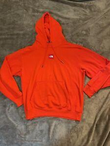 The North Face Logo Pullover Hoodie Mens Medium - Orange Sweatshirt