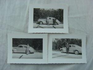 Vintage Car Photos Men w/ 1941 Buick  808