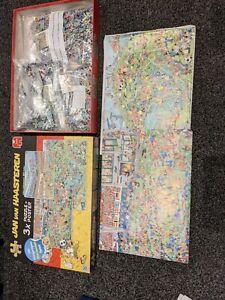 jan van haasteren 3x Puzzle + Posters  1000pc,750pc,500pc. EXC COND. 100%