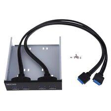 "5.25"" USB 3.0 4-Ports Metal Floppy Disk Bay Front Panel Hub Expansion SATA Power"