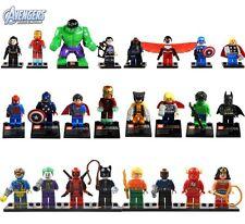 24 Sets Super Hero Avengers Figures Lot Building Toy Catwoman DeadPool Wolverine