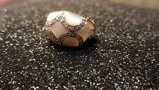 14K GOLD PINK PEARL AND GENUINE  DIAMOND RING
