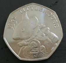 Rare Mrs Tittlemouse - Beatrix Potter 50p coin 2018 - Circulated