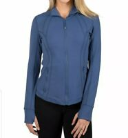NWT 90 DEGREE By REFLEX Women's Blue Full Zip Running Jacket size S