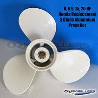 HONDA Propeller 8-9.9-15-20HP Aluminium 3 Blade Performance Prop All Sizes