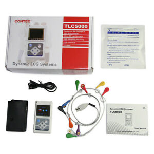 CONTEC TLC5000 Dynamic 12-channel ECG Holter Monitor 24hour Recorder,PC software