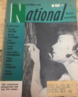National Home Monthly 1950 Canadian Magazine, Vintage Print Ads Retro M1
