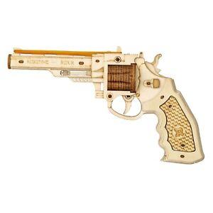 Rubber Band Pistol Gun Working Wooden Shooter Toy Corsac M60 3D Laser-Cut Game