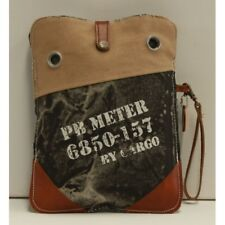 Canvas and Leather Unisex Meter Tablet Pouch
