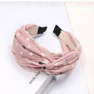 Women's Tie Headband Hairband Lace Wide Fabric Hair Band Hoop Accessories Casual