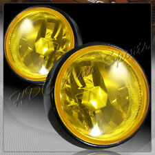 """3.5"""" Round Yellow Lens H3/55W Fog Driving Bumper Lights Lamps+Switch Universal 4"""