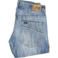 Lee Ripley 3 Needle Men Blue Straight Regular Jeans W32 L32 (44757)