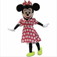 Adult Size Red Minnie Mouse Mascot Costume Halloween Cosplay Disney Character