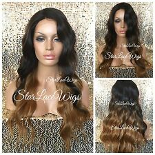 Synthetic Lace Front Wig Loose Waves Long Brown Medium Auburn #4 #27 #30 Heat Ok
