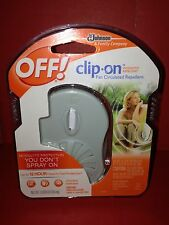 OFF! Clip-on Mosquito Fan Circulating Repellent Kit 1 refill, 2 AA batteries