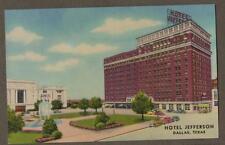 Dallas, Texas Postcard Jefferson Hotel. Vintage  Postcard unused L364