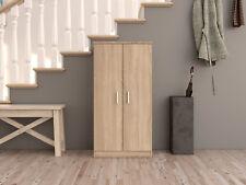 Bellini Shoe Cabinet 20 Pairs 2 Door in Canadian Oak 7 Shelf Storage Unit